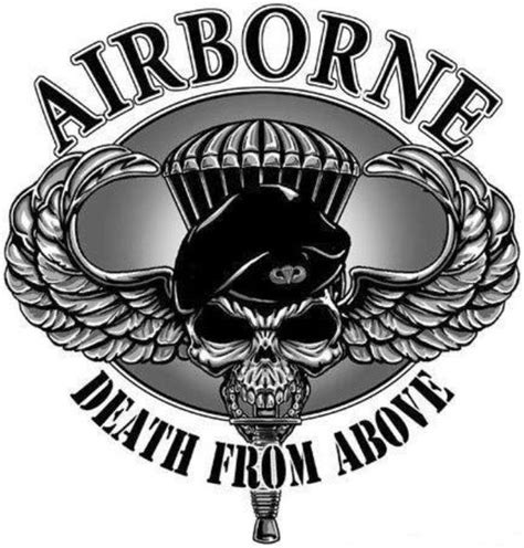 death from above tattoo army airborne army airborne from above graphics
