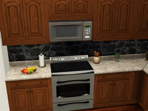 microwave above stove mod the sims above range microwave