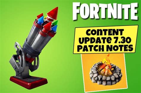 fortnite  update patch notes today bottle rockets