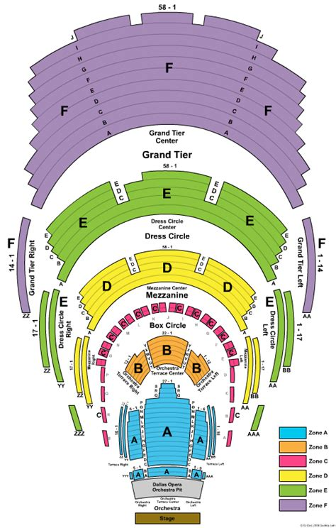 winspear opera house seating chart