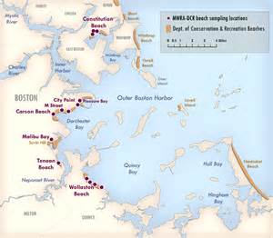 us map of beaches mwra s boston harbor beaches page