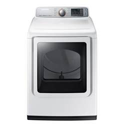 samsung 7 4 cu ft electric dryer with steam in white