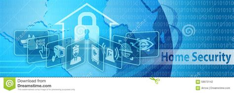 home security protection banner stock illustration image