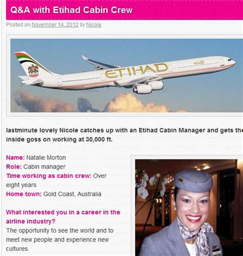 cabin manager journey through q a with etihad cabin manager
