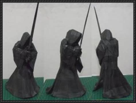 origami nazgul tutorial the lord of the rings nazgul free papercraft download