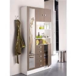 galet armoire de salle de bain l 90 cm blanc et taupe