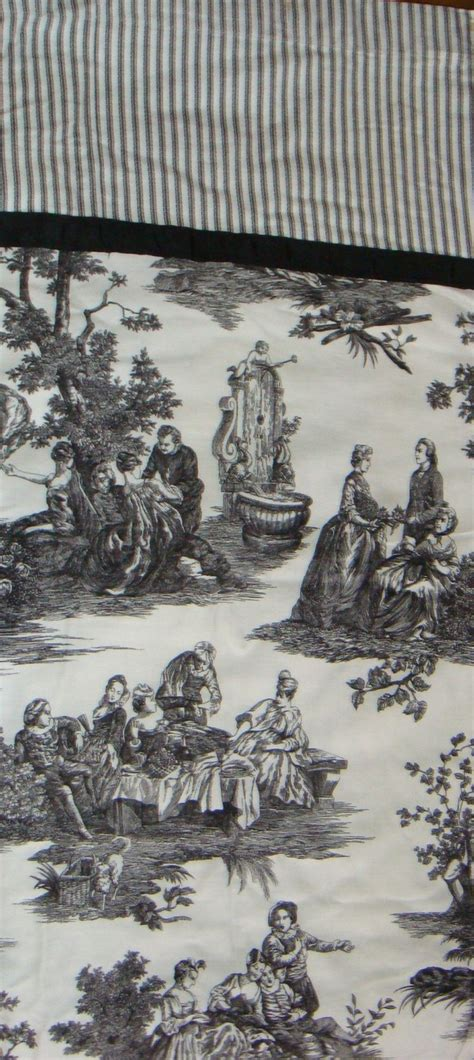 waverly country life curtains waverly country life toile black and white fabric shower