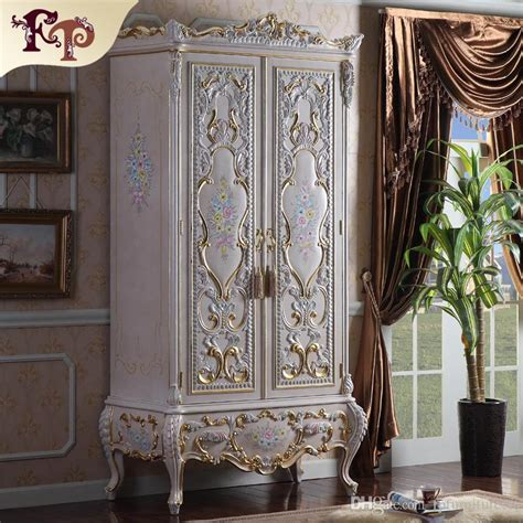luxury royalty villa furniture baroque wardrobe european bedroom furniture luxury rococo