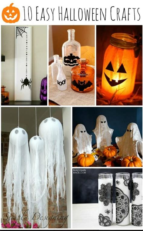 easy halloween decorations to make at home 10 easy halloween craft ideas