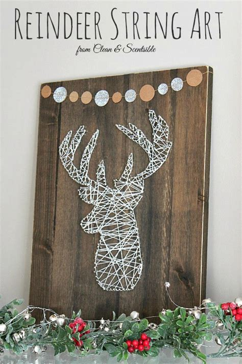 Winter Decorating Ideas - deer head string art clean and scentsible