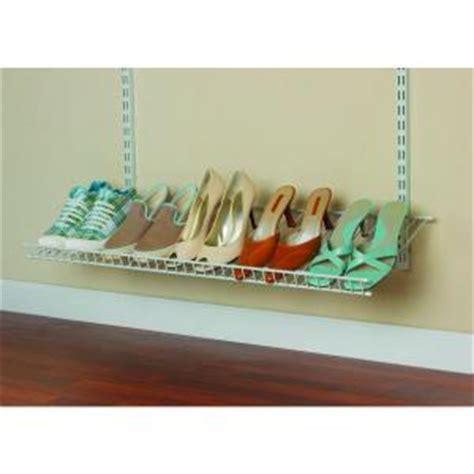 Closetmaid Wire Shoe Shelf Kit Closetmaid Shelftrack 5 Pair Ventilated Wire Shoe Shelf