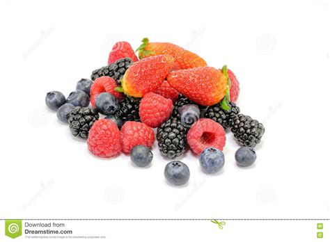 Mixing Whitening blackberry raspberry strawberry blueberry fruit mix stock