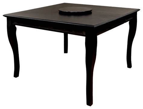 burgos counter height table with lazy susan black