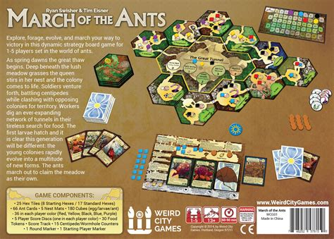 game box layout march of the ants peter wocken design llc
