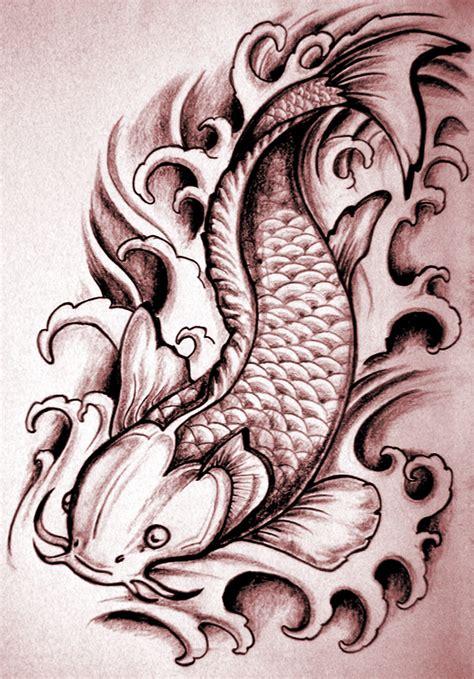 feminine koi fish tattoo designs femine koi cat japanese tags feminine
