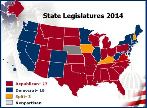 united states map by political 2014 larry j sabato s 187 state legislative