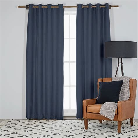 harrisons curtains harrison 135x230cm room darkening eyelet curtain indigo