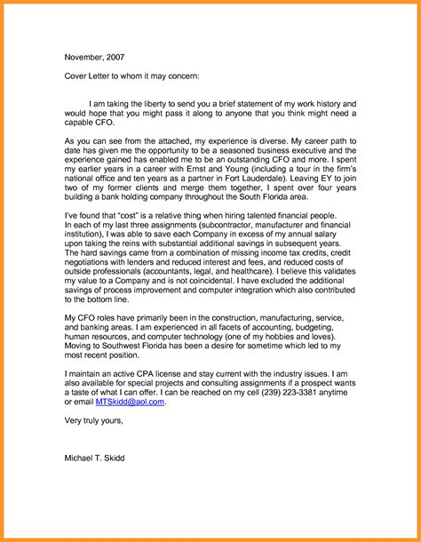 resume cover letter samples to whom it may concern arresting