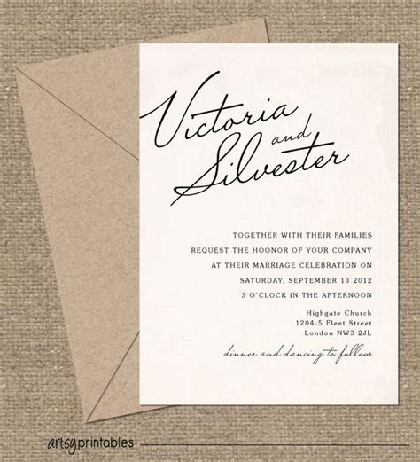 lets get the family together classic and elegant vintage wedding invitations elegant script style