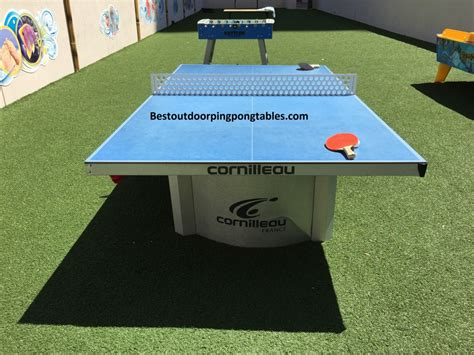 outdoor ping pong table reviews cornilleau 510 pro outdoor table review