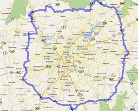 Atlanta Area Map by Atlanta Appraisal Coverage Area Atlanta Auto Appraiser
