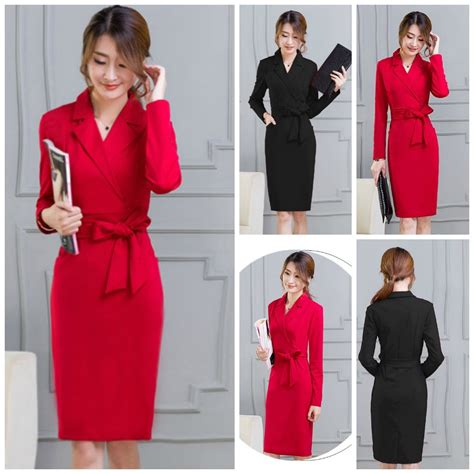 Baju Wanita Korea busana kerja wanita korea dress formal wanita korea