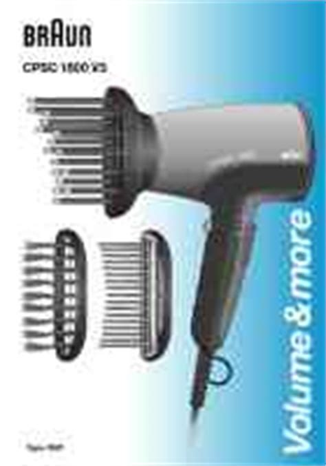Braun Hair Dryer Creation 1700 braun hair dryer manual in the fran 231 ais language list of available manuals for