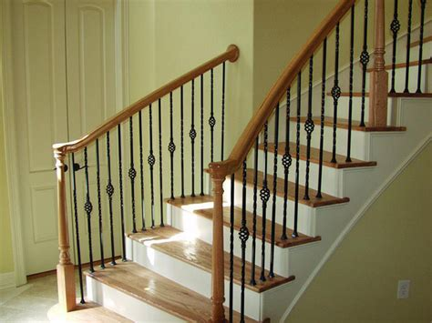 indoor banisters build wood handrail new design woodworking