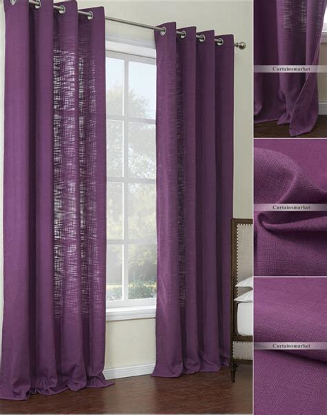 two color curtain panels purple color two panels discount curtains online