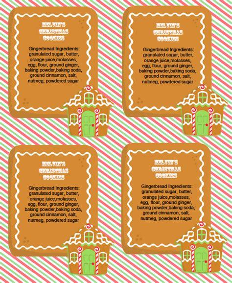 gingerbread party kit  labels worldlabel blog