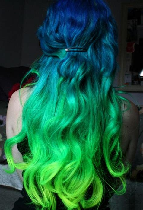 hairstyles long hair dyed blue green dyed hair long hairstyles how to
