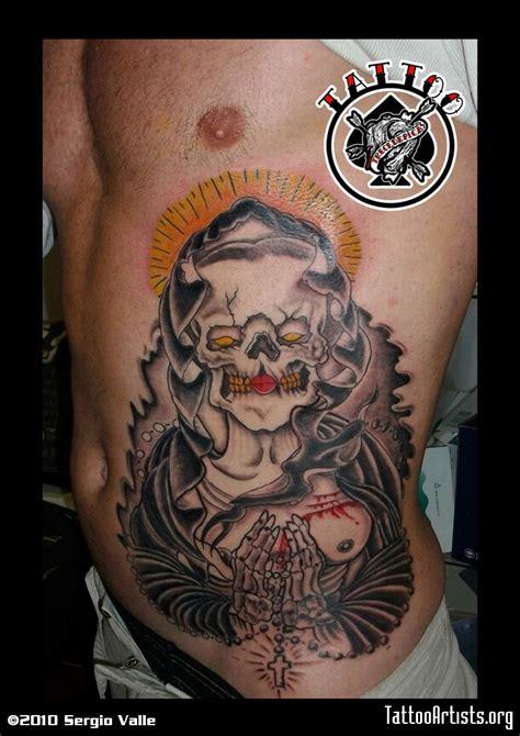 santa muerte tattoo images santa muerte on side tattooshunt