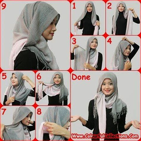 gambar tutorial jilbab pashmina simple how to wear a hijab in style 12 tricks