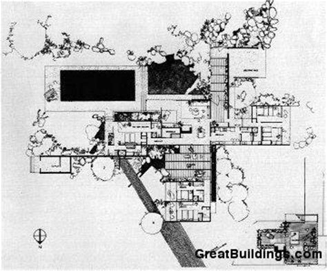 kaufmann desert house floor plan gallery of ad classics kaufmann house richard neutra 15