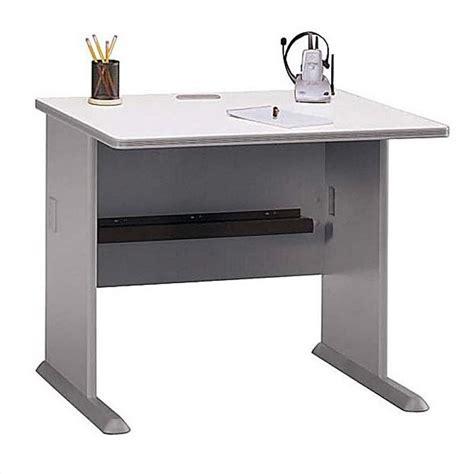 36 Corner Desk Bush Business Series A 36 Quot Corner Desk Set In Pewter