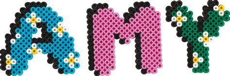 name hama perler bead alphabet