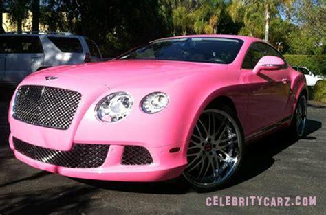 bentley pink diamonds nicki minaj pink bentley continental gt carz