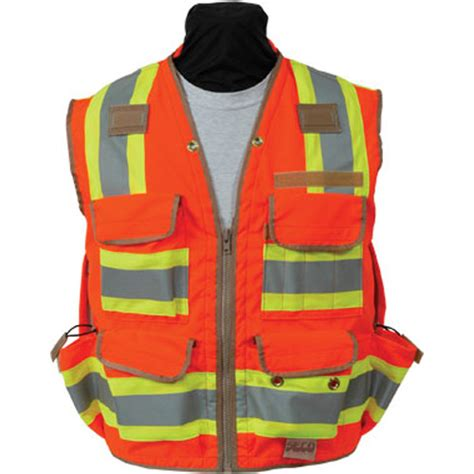 Rompi Vest Denim seco 8265 series class 2 safety vest with outlast collar and mesh back engineersupply