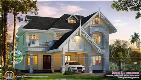 awesome european style house in kerala kerala home