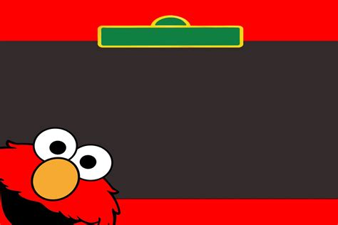 elmo template kiddie link freebie sesame elmo and