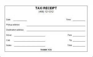 Nyc Taxi Receipt Template Taxi Receipt Template Free Word Templates