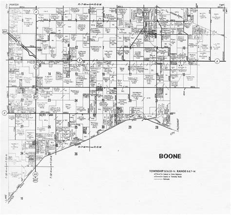 boone map porter county indiana genweb township plat maps 1973