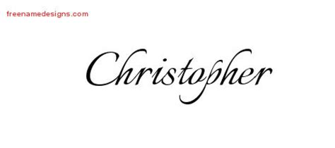 calligraphic name tattoo designs christopher download free