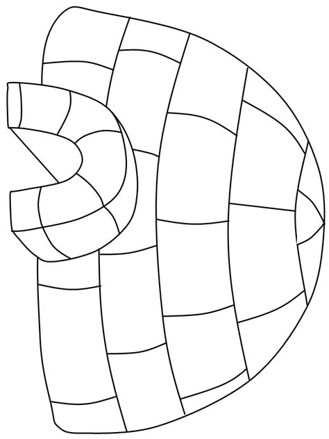 igloo coloring page free igloo coloring pages 4