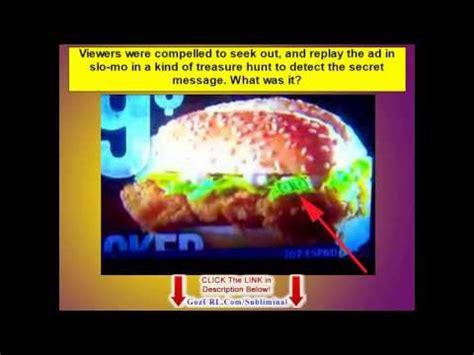 hidden subliminal messages in advertising subliminal advertising exles kfc s lettuce dollar