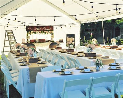 Engagement Dinner Decorations by Kara S Ideas Rustic Chic Engagement Kara S