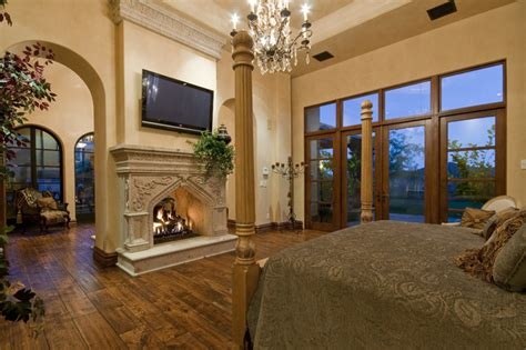 million dollar bedrooms fireplace in multi million dollar home designed by