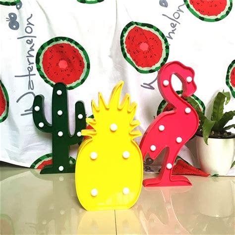 Lu Led Flamingo lumiparty 3d led flamingo l pineapple cactus nightlight light table l for