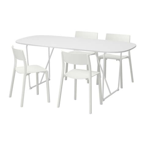 oppeby backaryd janinge table and 4 chairs white white 185