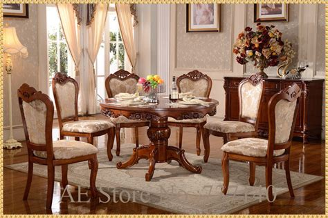 Aliexpress Com Buy Dining Table Set Dining Table 6 Wood Dining Table And 6 Chairs
